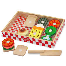 melissa doug wooden sandwich making set
