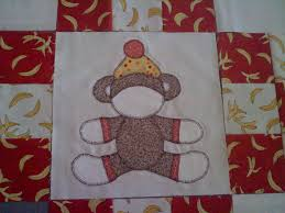 your quilt is going to take some abuse i have no problem using fusible web to create my applique that s what i used to create this sock monkey block