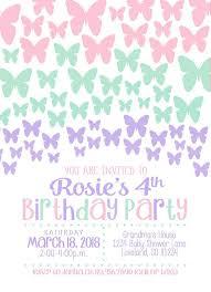 1st Birthday Party Invitation Template Editable Pastel Girl Birthday Party Invitation Template