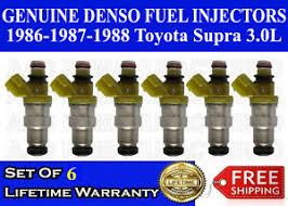 Toyota Injector Size Chart Details About Genuine Denso Set Of 6 Fuel Injectors For 86 87 88 Toyota Supra 3 0l 23250 70040