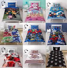 kids bedding sets. Image Is Loading Childrens-Characters-Single-Bed-Quilt-Duvet-Cover-amp- Kids Bedding Sets