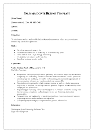 Sales Resume Skills Associate Writing Resume Sample Writing