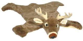 white tail deer plush rug