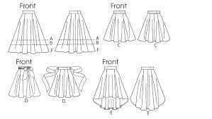 High Low Skirt Pattern Extraordinary V48 Misses' Flared Skirts Sewing Pattern Vogue Patterns