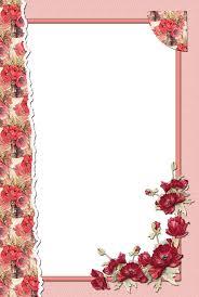 Red Photo Frames Transparent Flower Red Frame Frames And Borders Pinterest