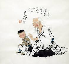chinese painting old man children chinese painting cnag221194 artisoo com