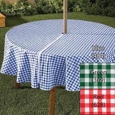 zippered umbrella vinyl tablecloth 3 colors 70 inches