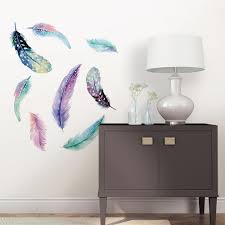 feather wall art sticker