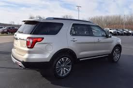 2017 ford explorer platinum white gold. used 2017 ford explorer platinum suv for sale in east peoria, il at uftring subaru white gold a