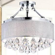 semi flush mount crystal chandelier rhinestone silver shade semi flush mount crystal chandelier semi flush mount french empire