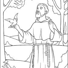 Picture Christmas Diego Coloring Pages 15 Saint Francis Page