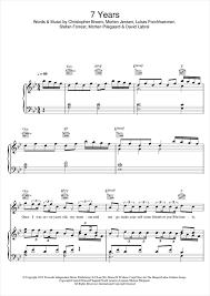 7 years old sheet music 7 years sheet music something new pinterest sheet music