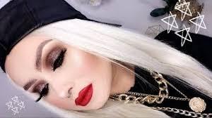 grunge glitter eye makeup tutorial