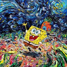 pop culture starry night pop culture post impressionism cartoon van gogh painting van gogh never