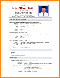 Enchanting Indian Job Resume Format Pdf On 4 Indian Resume Format