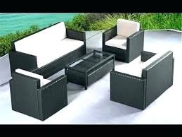 black wicker patio furniture home depot outdoor dining set table appealing sets on amazing