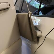 hanging garage pad to prevent door dings 87101