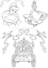 4 Coloriages Cendrillon Princesse Carrosse Mariage Sur