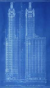 architecture blueprints. Drawn Skyscraper Architecture Blueprint #12 Blueprints