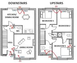 site survey security plan house with layout