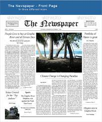 Newspaper Front Template Sample Newspaper Front Page 5 Documents In Word Pdf Psd