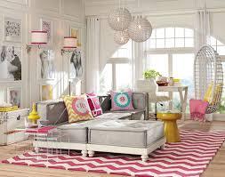 Lounge Room Decorating Ideas | Bold Colors | PBteen [ I like the wall idea ]