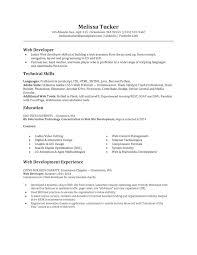 Html Developer Sample Resume Records Administrator Cover Letter