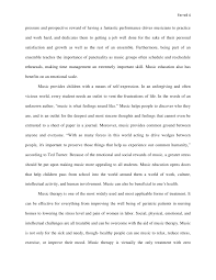 music education research paper the 4