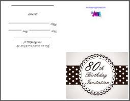 Printable 80th Birthday Party Invitation