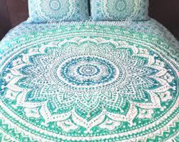 Boho quilt | Etsy & Green ombre mandala tapestry quilt, boho quilt, hippie quilt, indian style  tapestry quilt Adamdwight.com