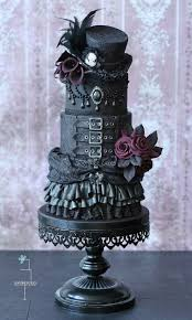Top Hat Cake Designs Gothic Wedding Cake With Top Hat Steampunk Wedding Cake