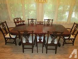 antique gany dining table with 6 ethan allen chairs etc for cheerful room furniture present 5
