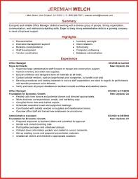 Inspirational Admin Manager Resume Format India Personal Leave