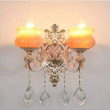 european crystal candle wall sconce