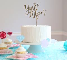 How To Make A Diy Cricut Typography Cake Topper Youre A Gem