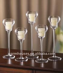 tall glass candle holders 13