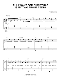 all i want for christmas is my two front teeth sheet music sheet music digital files to print licensed spike jones the city