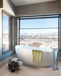 bedroom bathroom view bath tubs  contemporary bathroom in aspen with a view of the rocky mountains des