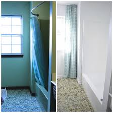 shower before and after the colors are truer in the after picture tub and tile transformations