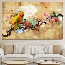 poster wall picture modular oil painting 1 panel colorful bird canvas art print for home decoration on colorful birds canvas wall art with poster wall picture modular oil painting 1 panel colorful bird
