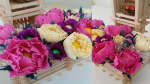 Make Crepe Paper Flower Diy Crepe Paper Peony Flower Tutorial Youtube