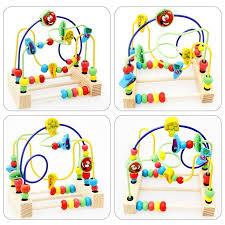 premium wooden bead maze developmental toys