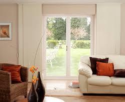 white stained wooden sliding door using plantation shutters for sliding glass doors sliding glass doors window treatments