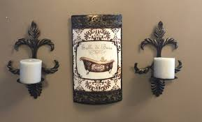 bathroom decor set of small wall candle holders 12 by 9 and wall decor 14 by 9 for in clermont fl offerup