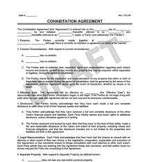 Domestic Partnership Agreement Amazing Cohabitation Agreement Legal Templates