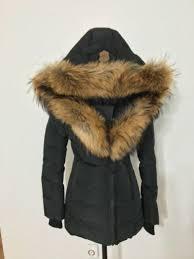 nwt women s mackage adali fur trimmed hood down coat x small black