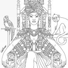 Subscribe for more fun new coloring videos everyday. African Queen Coloring Page Coloring Books Coloring Pages Free Coloring Pages