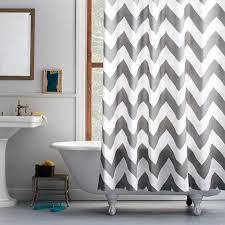 grey chevron shower curtains. Contemporary Grey Inside Grey Chevron Shower Curtains Y
