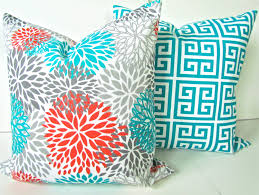 Decorative Pillow Set Teal Couch Pillows
