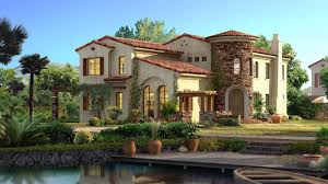 beautiful mansions in the world | for pc with a beautiful house, light with  red